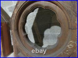 HUGE PAIR ANTIQUE GOTHIC OAK CORBELS 59 x 31 ARCHITECTURAL SALVAGE