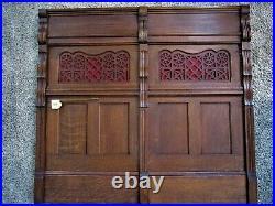 HUGE! Tiger Oak Architectural Church Panel Victorian Fretwork Gothic Wainscot