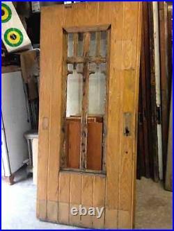 Heavy Oak Entry Door, Gothic