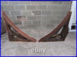 Huge Pair Antique Gothic Oak Corbels 36 X 33 Architectural Salvage