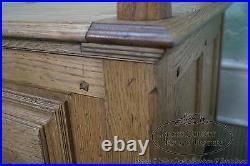 Jonathan Charles Tudor Oak Gothic Style Settee with Storage