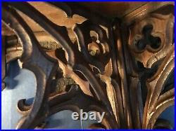 Large Gothic Revival Oak Wall Bracket