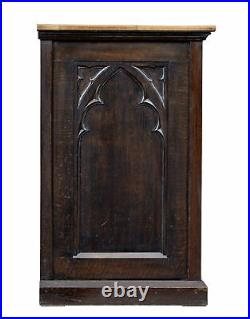 Late 19th Century Gothic Revival Oak Cupboard