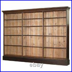 Lovely Victorian 1880 Mahogany & Oak Library Bookcase 169cm Tall 235cm Wide