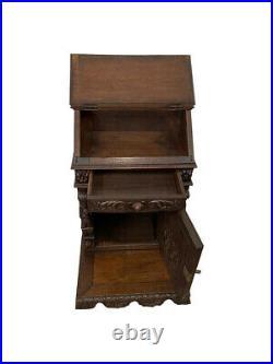 Marvelous Antique French Gothic Prayer Chair / Kneeler, Religious, Oak, 19th Cen