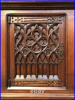 Nicely Sized French Gothic Server / Console, 19th Century, Oak