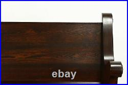 Oak & Elm Antique Gothic Carved 6' Church Pew or Bench #38226