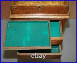 Original Army & Navy Stamped British Military Campaign Chest On Stand + Drawers
