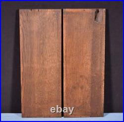 Pair of Gothic Carved Architectural Panels/Trim in Solid Oak Wood Salvage