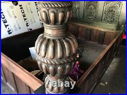 Queen Tester Bed 16th century style Adam eve panels oak carved