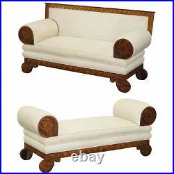 Rare Circa 1780 Metamorphic Gothic Style Sofa Converts Into Window Seat Chaise