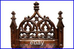 Regal Set of Eight French Gothic Chairs, Oak, 19th Century