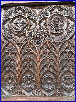 SALE SALE SALE! Stunning Gothic Door panel in oak (1)
