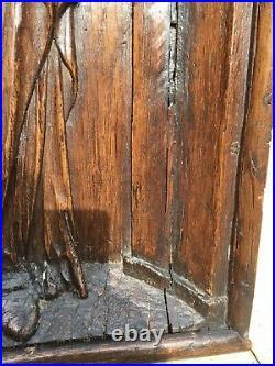 SUMMER SALE! Early oak Flemish Gothic Madonna & Child/church piece/Medieval