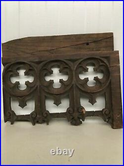 Stunning 19th C. Gothic Tracery Fragment/ panel in oak nr1