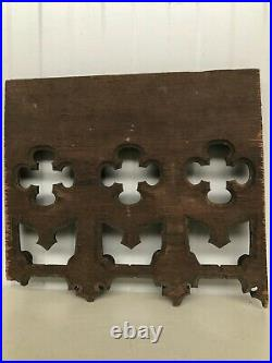 Stunning 19th C. Gothic Tracery Fragment/ panel in oak nr6