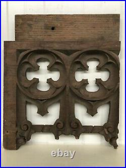 Stunning 19th C. Gothic Tracery Fragment/ panel in oak nr9