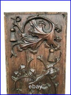 Stunning Gothic floral Panel in oak nr 2
