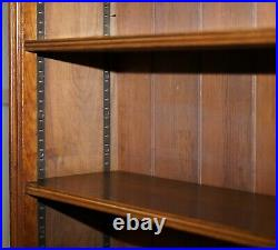 Stunning Maple & Co Oak Victorian Library Bookcase With Drawers Stamped Serial N