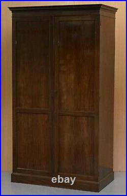 Stunning Victorian Solid Stained Oak And Mahogany Wardrobe Very Solid Good Find
