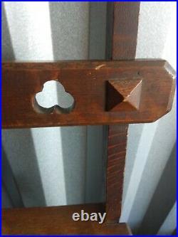 Victorian Gothic Arts Crafts Library Chair convert 2 Ladder Metamorphic Ca 1900