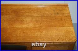 Vintage Circa 1970's Robert Thompson Mouseman Oak Kneehole Desk Dressing Table