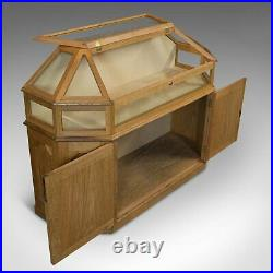 Vintage Display Cabinet, Ecclesiastical, Shop, Retail, Showcase, Gothic Revival