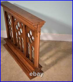 Vintage French Oak Wood Neo Gothic Church Altar and Railing Salvage