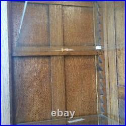 Vintage Oak Barley Twist Bookcase Display China Cabinet Hutch Restored LA Area