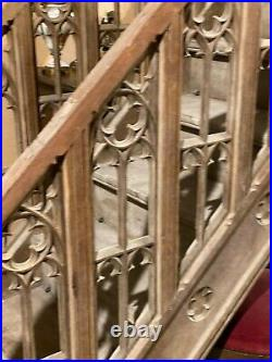 Wonderful Antique French Gothic Staircase, Architectural, Oak, 19th Century